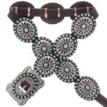 Turquoise Hammered Silver Concho Belt 28023