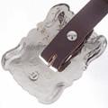 Navajo Antiqued Silver Concho Belt 28023