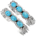 Native American Turquoise Silver Bracelet 20015
