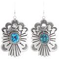 Navajo Turquoise Earrings Squash Blossom Set 28638