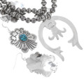 Sterling Native American Turquoise Jewelry Set 28638