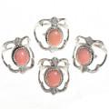 Ladies Pretty Pink Angelskin Coral Rings 29019
