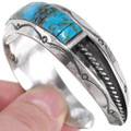 Hammered Silver Turquoise Cuff 27763