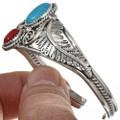 Navajo Turquoise Coral Bracelet 24020