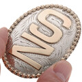 Personalized Silver Gold Belt Buckle 28314