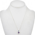 Amethyst Opal Sterling Pendant with Chain 17090