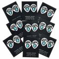 Shadowboxed Bear Paw Earrings 24579