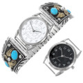 Sterling Silver Turquoise Native American Watch Choice of Timepiece 28916