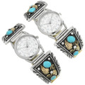 Native American Gold Silver Watch Tips 28916