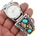 Gold Sterling Silver Traditional Navajo Watch 28916