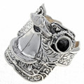 Mens Silver Saddle Ring 24757