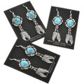 Natural Turquoise Feather Earrings