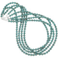 Authentic Navajo Turquoise Bead Necklace Sterling Accents 24800