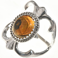 Navajo Citrine Silver Ring 29014