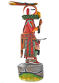 Large Colorful Parrot Kachina Doll 29573