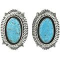 Navajo Turquoise Post Earrings 25138
