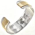 Overaid Gold Navajo Sterling Cuff 10782