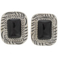 Onyx Silver Post Earrings 27860