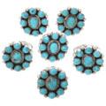 Kingman Turquoise Silver Ladies Ring 27688