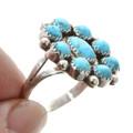 Kingman Turquoise Cluster Ring 27688