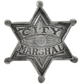 City Marshal Silver Star Badge 29202