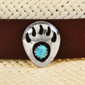 Navajo Turquoise Silver Hat Band 22066