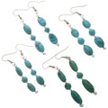 Natural Turquoise Dangle Earrings 28256