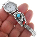 Navajo Turquoise Coral Watch 24504
