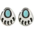 Bear Paw Silver Stud Earrings 26768