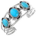 Blue Turquoise Silver Bracelet 28913