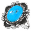 Blue Turquoise Silver Ring 28913