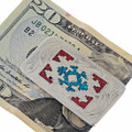 Coral Turquoise Inlaid Money Clip 21041