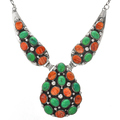 Navajo Gaspeite Cluster Sterling Necklace 29620