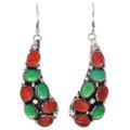 Native American Gaspeite Shell Earrings 29620