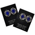 Navajo Gemstone Sterling Earrings 29516