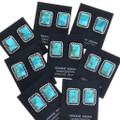 Navajo Turquoise Silver Stud Earrings 28521