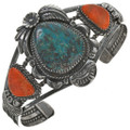 Turquoise Coral Cuff Bracelet 28626