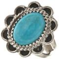 Navajo Turquoise Silver Ladies Ring 28618