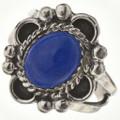 Blue Lapis Silver Ring 28602