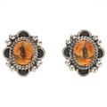 Native American Citrine Silver Post Earrings 29517