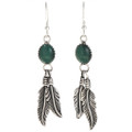Malachite Silver Navajo  Earrings 29402