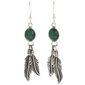 Malachite Silver Navajo  Earrings 29402