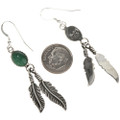 Navajo Feather Dangle Earrings 29402