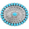 Natural Kingman Turquoise Belt Buckle 28252