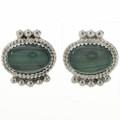 Malachite Silver Post Earrings 29083