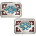 Southwest Rug Pattern Belt Buckle 32663