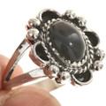Ladies Black Onyx Silver Ring 28596