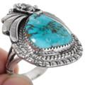 Blue Diamond Turquoise Ring 29839