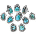 Gemmy Blue Diamond Turquoise Rings 29839