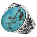 Navajo Kingman Turquoise Mens Ring 29820
